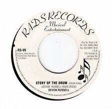 "DEVON RUSSELL-STORY OF THE DRUM -RAD'S - ""DRUMSONG"" REGGAE 7"" hear"