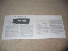 Hitachi HMA-7500 Amplifier Review, 2 pg, 1979, Full Test, Specs, Info