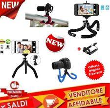 CAVALLETTO UNIVERSALE FOTOCAMERA MINI TREPPIEDI TRIPODE + SUPPORTO smartphone