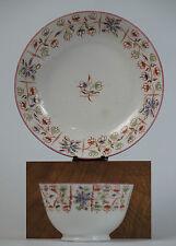 Machin pink lustre rim tea bowl and saucer pattern 1.c1810