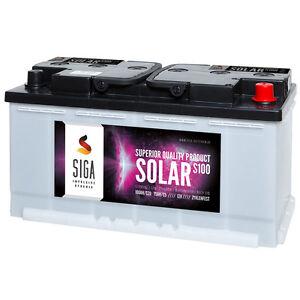 Solarbatterie 12V 120Ah C100 100Ah C20 Wohnmobil Versorgungs Batterie zyklenfest
