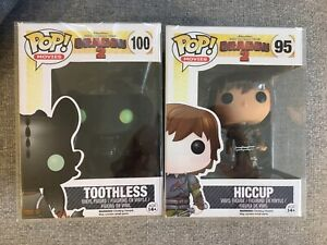 RARE How To Train Your Dragon 2 Pop Vinyl- Hiccup And Toothless With Protectors