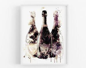 Champagne Wall Art Kitchen Print Dining Print Bar Wedding Home Decor Gift