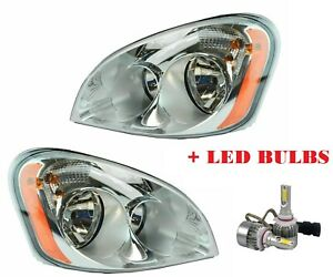 2008-2016 Freightliner Cascadia Commercial Truck OE Headlight with LED bulbs