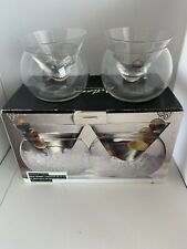 Artland Stemless Martini Glasses with Chilling Bowl Set of 2  NIB