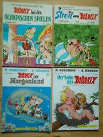 Asterix-Band Nr.12, 15, 27, 28 - Konvolut 4 Comic-Alben ORIGINAL ERSTAUFLAGEN
