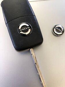 Volvo Keyring Sticker x 2 for standard flip key Logo