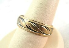 Black Enamel 4.8gr Size 10.5 wide 6.2mm 14K Yellow Gold Wedding Band Ring With