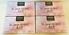 NYX In Your Element Air Eye Shadow Pigment Palette Lot of 4 new Limited Edition