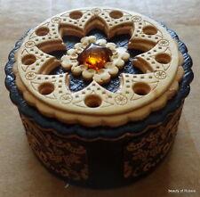 birch russian handmade box w/ amber
