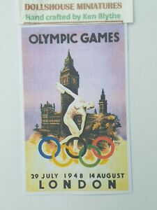1:12 SCALE, 12 OLYMPIC POSTERS,Hand Crafted By Ken Blythe