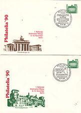 Philatelia'90 Berlin GA 2sst de chaque jour une 8.-10.11.90 P. auchshop!