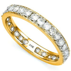14 KT SOLID YELLOW GOLD RING 1.08 CT GENUINE DIAMONDS (VS CLARITY)