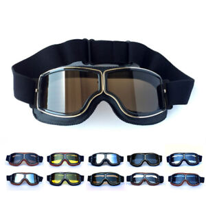 Retro Cycling Bike Goggles Windproof Vintage Sunglasses Bicycle Sports UV400