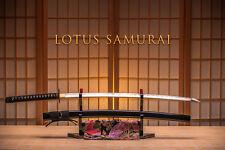 LOTUS SAMURAI JAPANESE HIGH CARBON STEEL SAMURAI SWORD KATANA  BLACK
