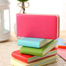 Smile printing notebook leather cover note book office school supplies good help