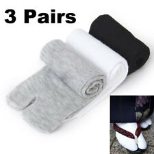 3 Pair Unisex Japanese Kimono Geta Clog Flip Flop Cotton Tabi Socks Split Toe
