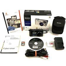 Sony Cybershot DSC-H55 14.1MP Digital Camera Black Complete Case Screen Care Kit
