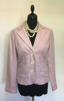 Boden Lilac/ Pink 100% Linen  Fitted Jacket size UK 10, US 6