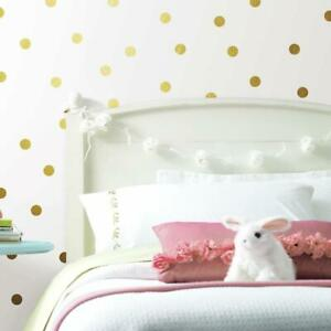 Gold Foil Confetti Dot Peel and Stick Wall Decals, 1.7 inches x 1.7 inches