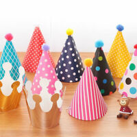 11 Pcs Cone Hat Crown Happy Birthday Party Hat - Paper Cone Hats Fun Game Fine