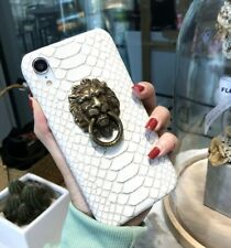 For iPhone 11 - 3D Lion Head Armor Snake Skin Pattern Case with Ring Holder