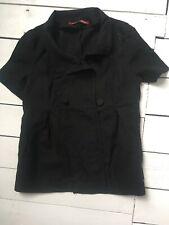 Black Linen Comptoir Des Cotonniers Size 36 S Short Sleeves