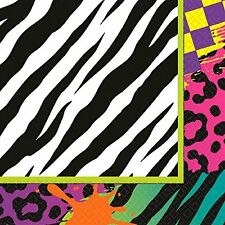Animal Print Totally 80s Lunch Napkins (16) ~ Birthday Party Supplies Serviettes