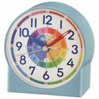 SEIKO CHILDRENS TIME TEACHING ALARM CLOCK - BLUE (MODEL NO. QHE153L)