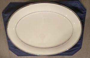 Lenox Solitaire Platinum Ivory Platter
