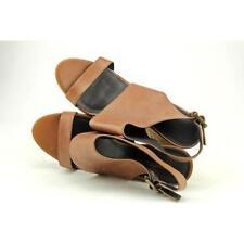 Calzado de mujer sandalias con tiras marrones, talla 37