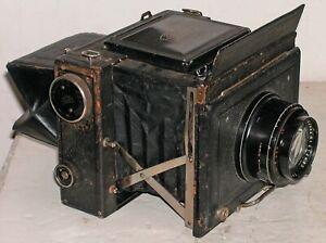 Antique Zeiss Ikon Miroflex Press SLR 9 x12cm Camera Tessar 165mm f3.5 Lens