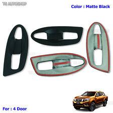 Matte Black 4 dr Handle Bowl Insert Cover Fit Nissan Navara Np300 D23 2015 2016