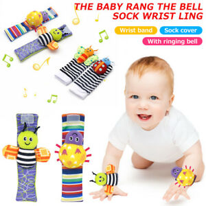 Baby Toys For 0-12 Months Toy Socks Wrist Rattles & Foot Rattles Foot Baby Toys