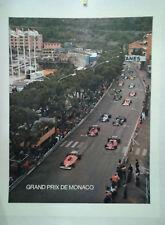 AFFICHE ANCIENNE PHOTO J M PLATON  GRAND PRIX AUTOMOBILE MONACO MONTE CARLO