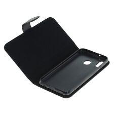Book Case Etui Handytasche Tasche Hülle f. Samsung Galaxy M20 (Schwarz)
