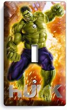 THE INCREDIBLE HULK SINGLE LIGHT SWITCH WALL PLATE COVER BOYS BEDROOM ROOM DECOR
