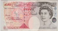 B385 LOWTHER £50 M21 1999 BANKNOTE IN EXTREMELY FINE CONDITION.