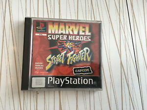 Marvel Super Heroes vs Street Fighter PS1 playstation 1 front and back cover onl