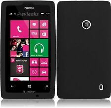 Silicone Skin Case for Nokia Lumia 521 - Black