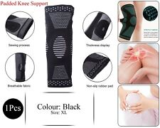 Climb Apoyo Knee Pad Brace Sleeve Protect Joint Sports Padded Breathable Negro