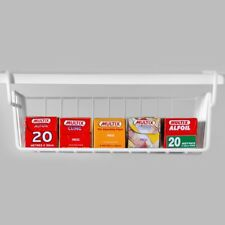 Storage Wrap Hanging Shelf Holder Organiser Cupboard Kitchen Pantry Rack Cabinet
