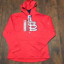 St. Louis Cardinals MLB Majestic Team Icon Streak On Field Sweatshirt Sz XL NWT!