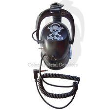 "DetectorPRO  ""Jolly Roger""  Gray Ghost Headphones  Metal Detecting - Free Ship"