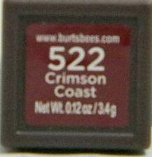 Burt's Bees Lipstick #522 Crimson Coast 100% Natural .12 oz