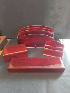 """""""FOUR"""" PIECE VINTAGE LAQUERED STATIONERY SET"""
