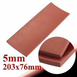 """High Temperature Solid Red Silicone Rubber Sheet 8"""" x 3"""" -20° to 400°F"""