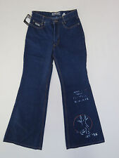 B-170 LADIES VINTAGE AUSSIE MADE PERVERT FLARE BLUE DENIM JEANS SZ 30 NEW