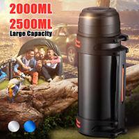 2L/2.5L Thermoskanne Outdoor Edelstahl Isolierflasche-Vakuum Trinkflaschen ~