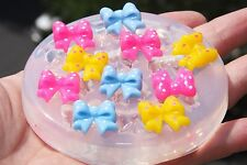 Clear-silicone jewelry bow mold.size-12x11 mm. Free USA shipping.(2-56)